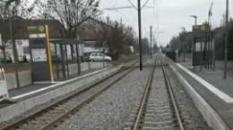 Haltestelle der Mainzelbahn in Bretzenheim